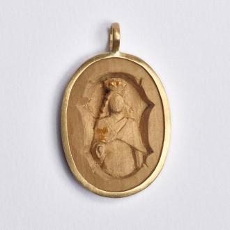 Pingente Santa Bárbara Medalha M