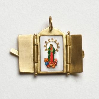 Pingente Oratório de Nossa Senhora de Guadalupe.