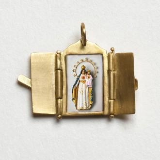 Pingente Oratório de Nossa Senhora do Brasil.