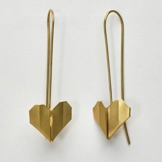 Brinco Coração Origami P