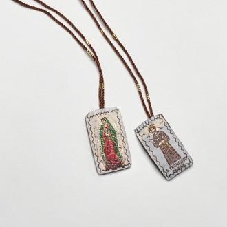 Escapulário São Francisco e Nossa Senhora de Guadalupe