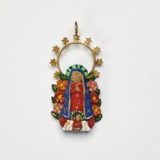 Pingente Virgencita Floral M.