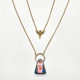 Escapulário Sagrado Coração de Maria e Divino