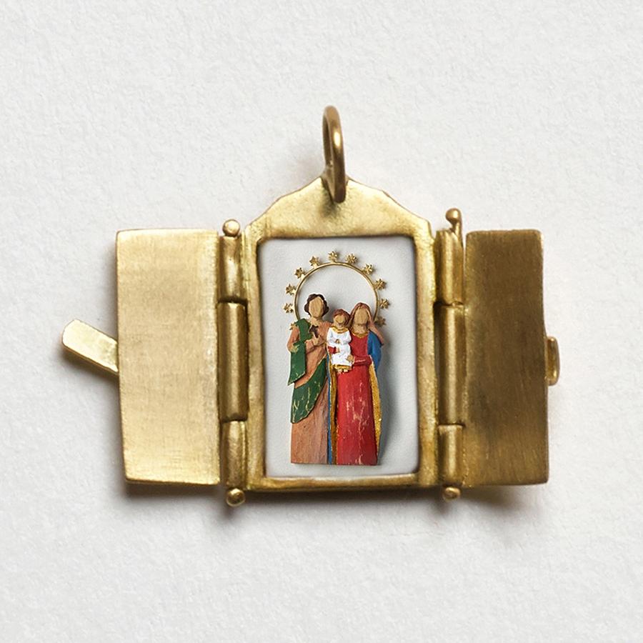 Pingente Oratório da Sagrada Família.