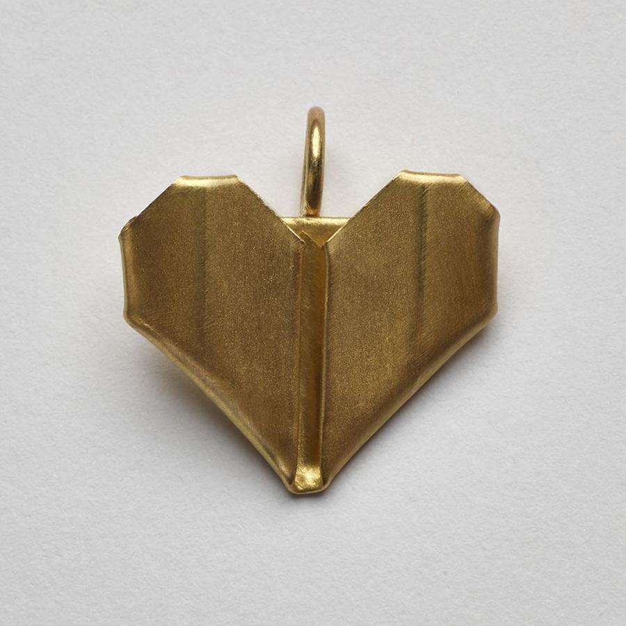 Pingente Coração Origami M