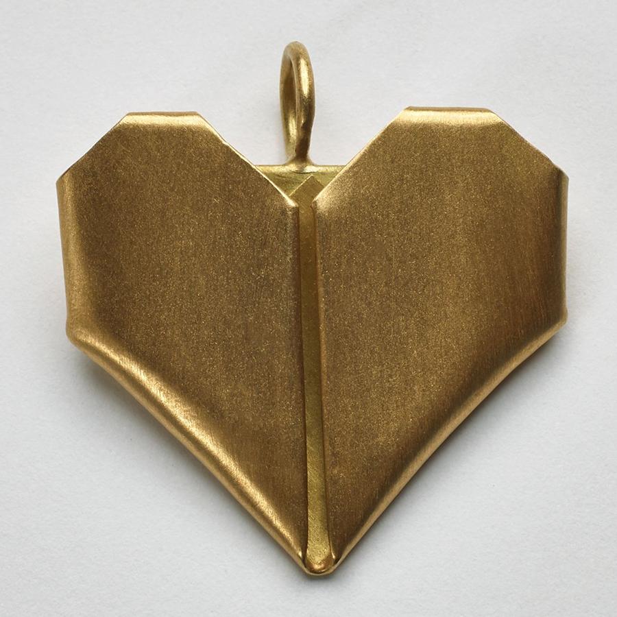 Pingente Coração Origami G.